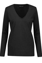 Majestic Cotton Jersey Top Black