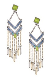 Bcbgmaxazria Two Tone Green Jacket Earrings Multi