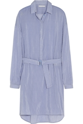 Richard Nicoll Striped Cotton And Silk Blend Shirt Dress