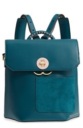 Ted Baker London Color By Numbers Leather Backpack Green Teal