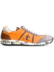 White Premiata Lucy Sneakers Yellow Orange