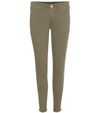 True Religion Halle Mid Rise Skinny Jeans Green