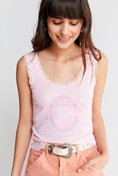 Truly Madly Deeply Unicorn Lace Tank Top Pink