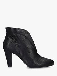 Carvela Comfort Rida Cut Out Leather Ankle Boots Black