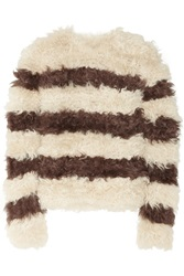 Thakoon Striped Kalgan Lamb Sweater White