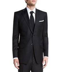 Tom Ford O'connor Base Solid Two Piece 130S Wool Master Twill Suit Black