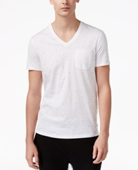 Armani Exchange Men's Dot Print T Shirt White