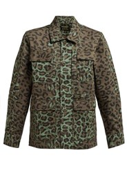 Maharishi Woodland Leopard And Camo Print Cotton Jacket Leopard