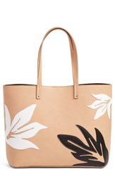 Chelsea 28 Chelsea28 Tropical Applique Faux Leather Tote