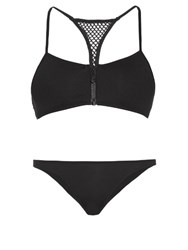 Melissa Odabash St Kitts Racer Back Bikini Black