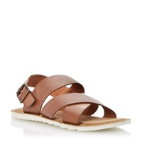 Bertie Funn Buckle Fastening Casual Sandals Tan