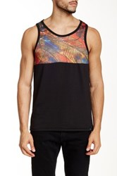Burnside Mesh Print Tank Red