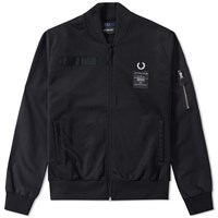 Fred Perry X Art Comes First Contrast Sleeve Track Jacket Black