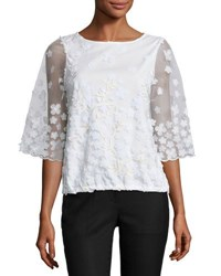 5Twelve Embroidered Dolman Sleeve Top White Gold