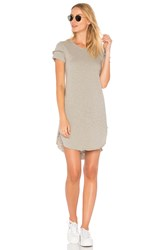 Wilt Shifted Tee Dress With Sleeve Detail Gray