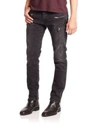 The Kooples Tks Distressed Stretch Denim Jeans Dark Grey