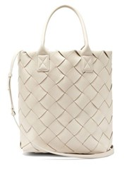 Bottega Veneta Large Intrecciato Leather Tote White