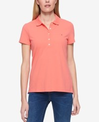 Tommy Hilfiger Short Sleeve Polo Shirt Only At Macy's Melon