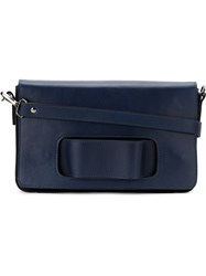 Mara Mac Structured Crossbody Bag Blue