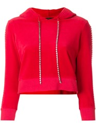 Juicy Couture Customisable Velour Hoodie Red