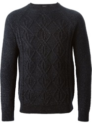 Roberto Collina Cable Knit Sweater Grey