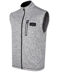 Greg Norman For Tasso Elba Men's Big And Tall Fleece Sweater Vest Only At Macy's Snow Htr