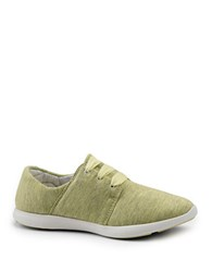 G.H. Bass Skyler Mesh Lace Up Sneakers Canary