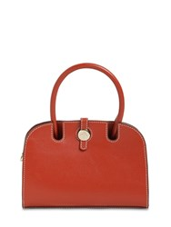 Manu Atelier Micro Ladybird Leather Top Handle Bag Redbole