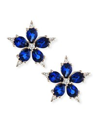 Small Stellanise Blue Sapphire And Diamond Stud Earrings Paul Morelli