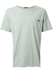 Bassike 'Original Button Pocket' T Shirt Green
