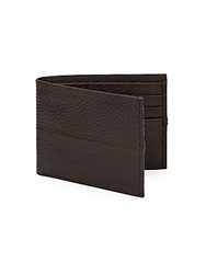 Cole Haan Pebbled Leather Billfold Wallet Chocolate