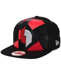 New Era Portland Trail Blazers Cut And Paste 9Fifty Snapback Cap Black Red
