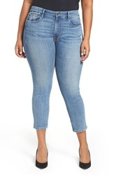Good American Plus Size Women's Cuts High Rise Boyfriend Jeans Blue 012