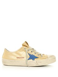 Golden Goose V Star Low Top Canvas Trainers Gold