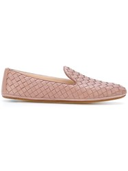 Bottega Veneta Woven Slippers Calf Leather Leather Nude Neutrals