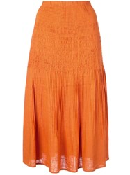 Nicholas Textured A Line Skirt Orange