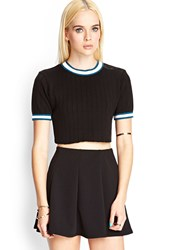 Forever 21 Cropped Short Sleeve Sweater