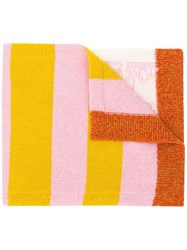 Barrie Stripe Detail Scarf Pink