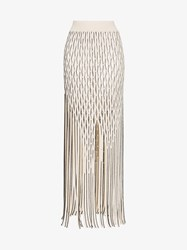 Alyx Palma Mesh Mid Rise Maxi Skirt Nude And Neutrals