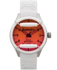 Superdry Men's Scuba Solar White Silicone Strap Watch 43Mm Iww D10310024