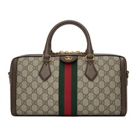 Gucci Beige Ophidia Gg Supreme Bowling Bag