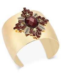 Inc International Concepts Gold Tone Crystal Cluster Cuff Bracelet Only At Macy's