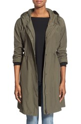 Women's Eileen Fisher Hooded Long Jacket Oregano