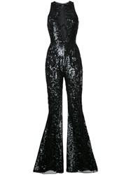 Zuhair Murad Sequinned Jumpsuit Black
