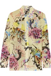 Mary Katrantzou Gala Printed Silk Georgette Shirt Yellow