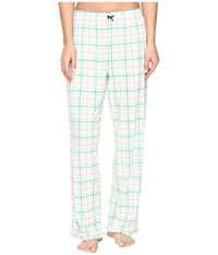 Jockey Printed Ankle Length Pants Sedona Plaid Women's Pajama Green
