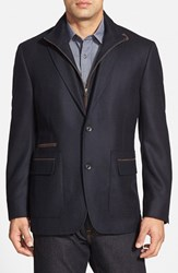 Men's Big And Tall Kroon 'P. Funk' Classic Fit Wool And Cashmere Sport Coat Navy