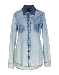 Denny Rose Denim Denim Shirts Women Blue