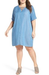 Lucky Brand Plus Size Women's Lace Up Swing Dress