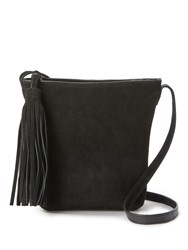 And Or Mena Suede Cross Body Bag Black